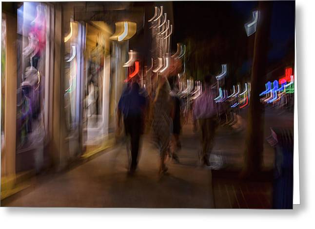 Strolling Duval Greeting Card