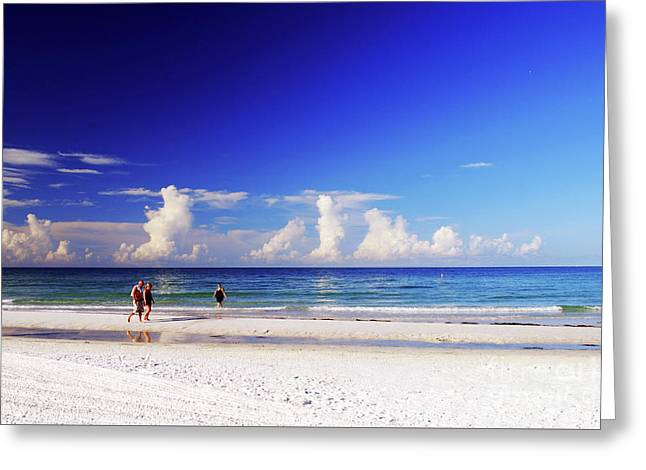 Greeting Card featuring the photograph Strolling The Beach by Gary Wonning
