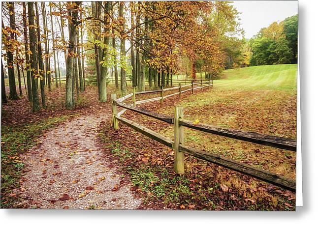 Strolling Through Autumn Greeting Card