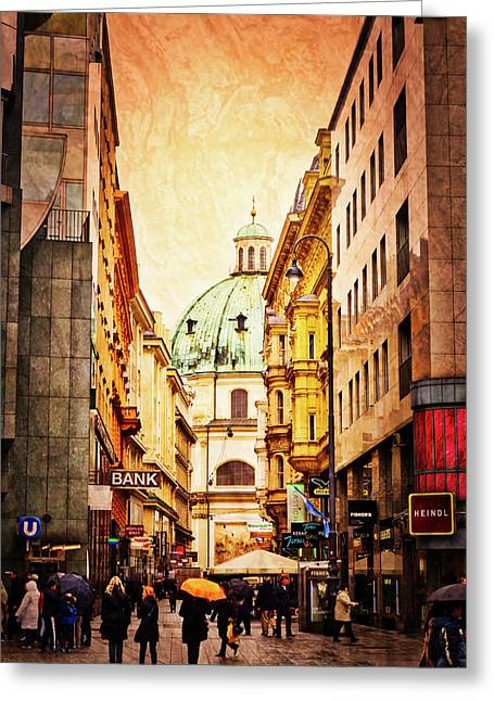 A Rainy Day In Vienna Greeting Card
