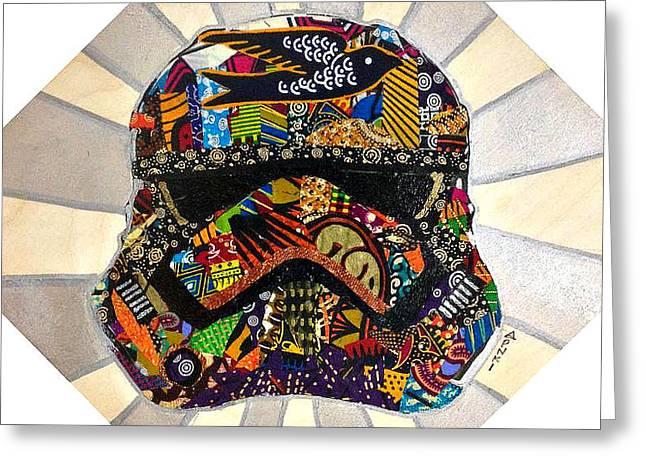 Strom Trooper Afrofuturist  Greeting Card