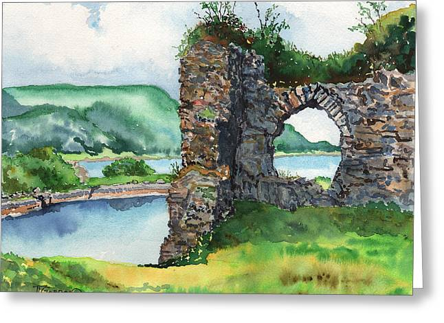 Strome Castle Scotland Greeting Card by Timithy L Gordon