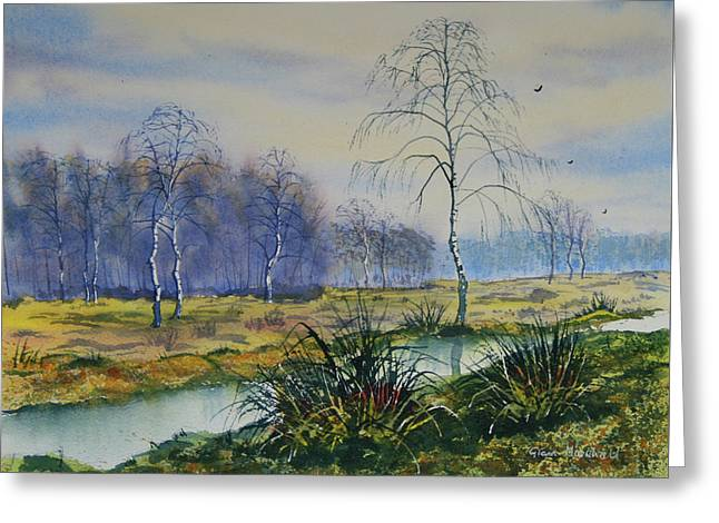 Stream In Flood On Strensall Common Greeting Card