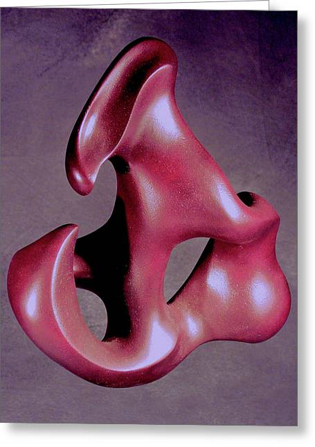 Abstract Forms Sculptures Greeting Cards - Structured Flame Greeting Card by Lonnie Tapia