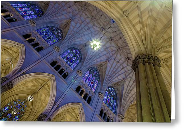 Structures Of St. Patrick 8 Greeting Card by Jonathan Nguyen