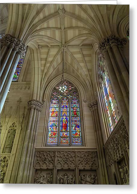 Structures Of St. Patrick Cathedral 3 Greeting Card by Jonathan Nguyen