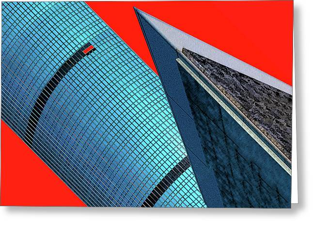 Structures Tilted 2 Greeting Card by Bruce Iorio