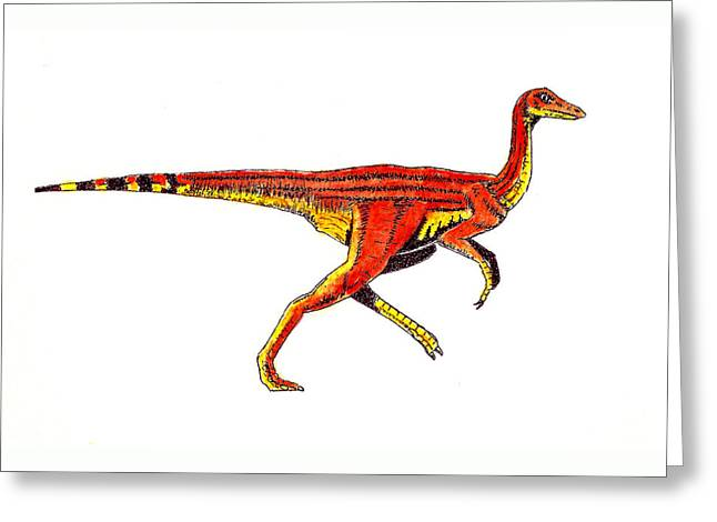 Struthiomimus Greeting Card by Michael Vigliotti
