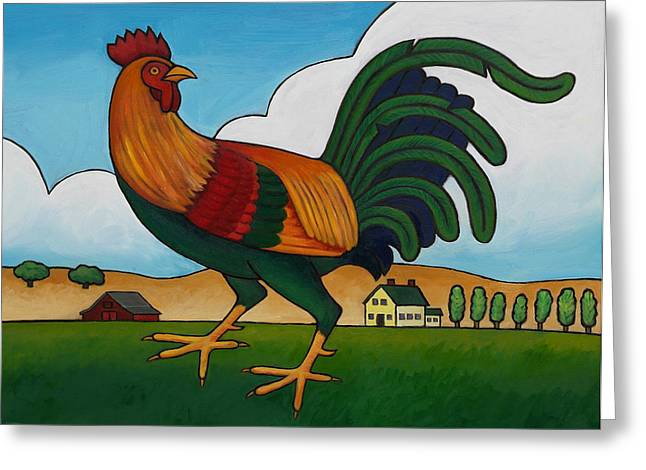 Struttin Stuff Greeting Card by Stacey Neumiller