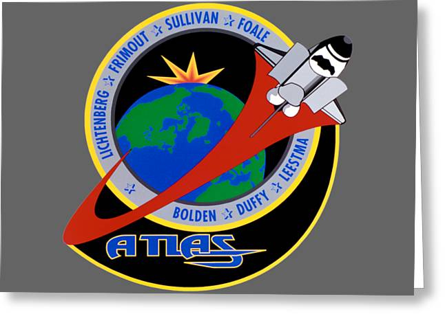 Sts-45 Patch  Greeting Card by Art Gallery