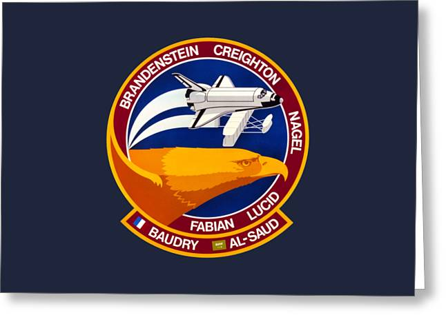 Sts-51g Insignia Greeting Card by Art Gallery