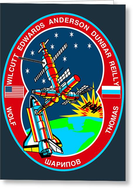 Sts-89 Crew Insignia Greeting Card by Art Gallery