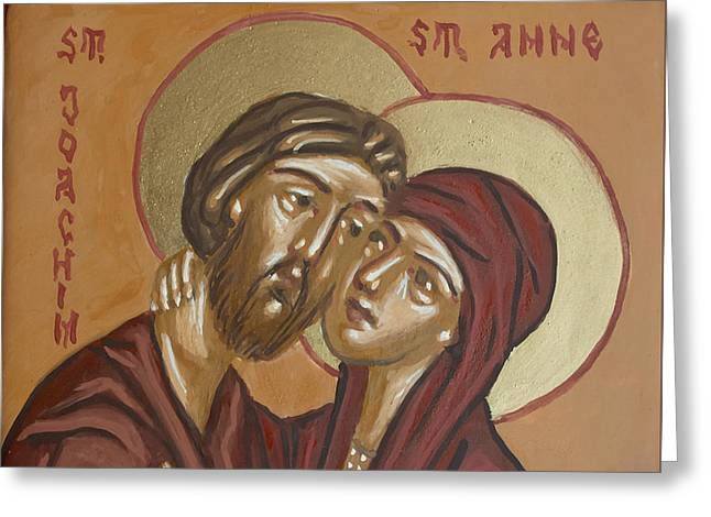 Saints Joachim And Anna Greeting Card by Olimpia - Hinamatsuri Barbu
