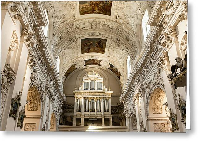 Sts Peter And Paul Church Interior Greeting Card
