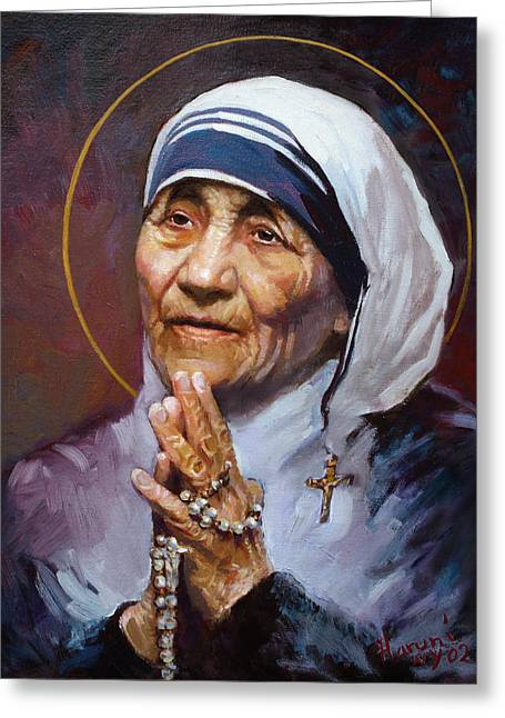 St.teresa Of Calcutta Greeting Card