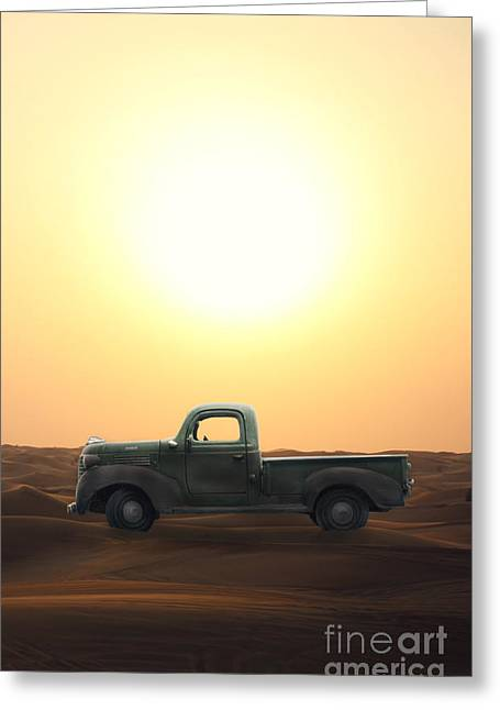 Stuck In The Sand Greeting Card by Edward Fielding