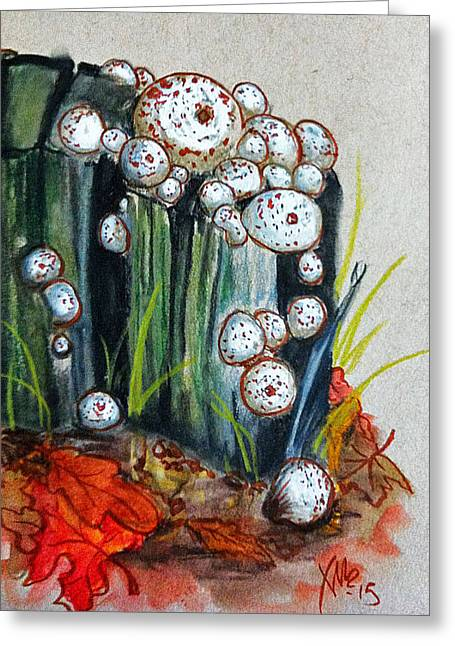 Studded Puffball Study Greeting Card