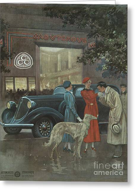 Greeting Card featuring the photograph Studebaker #8704 by Hans Janssen