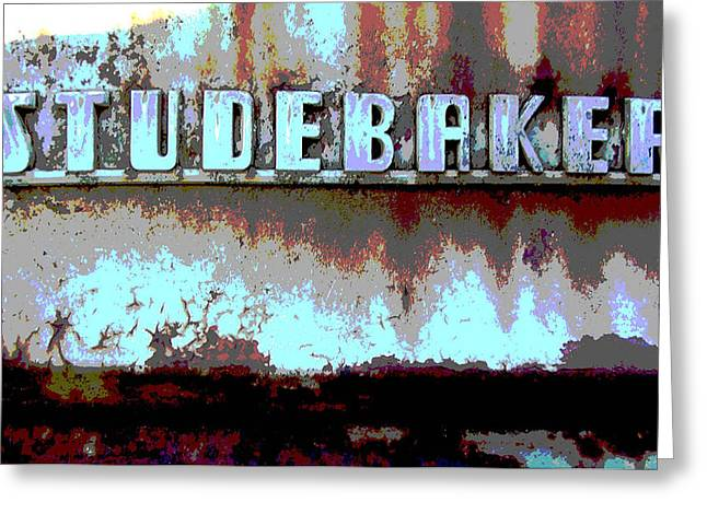 Studebaker  Greeting Card by Audrey Venute