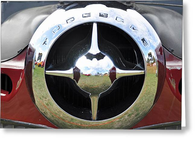 Greeting Card featuring the photograph Studebaker Chrome by Glenn Gordon