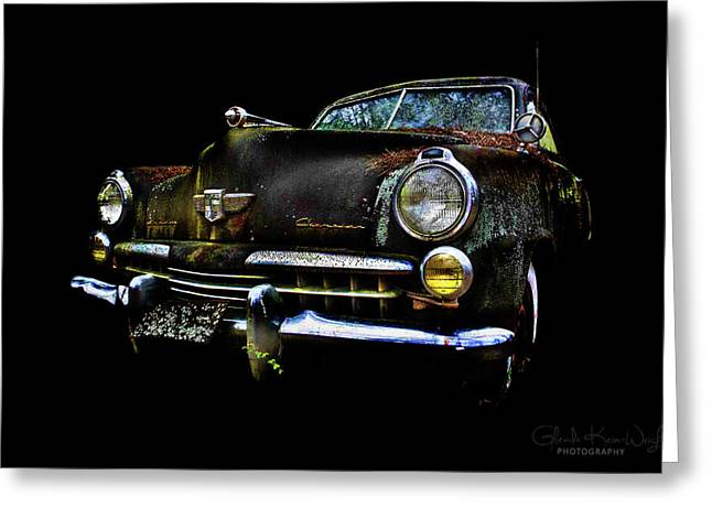 Greeting Card featuring the photograph Studebaker by Glenda Wright