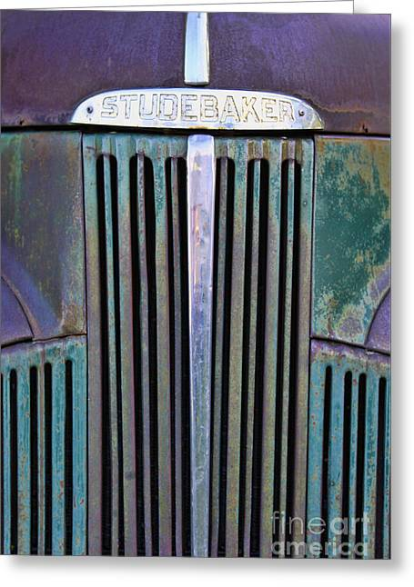 47 Studebaker Pick-up Grill Greeting Card