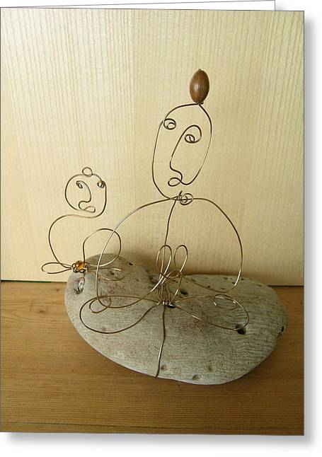 Student And Teacher Greeting Card by Live Wire Spirit