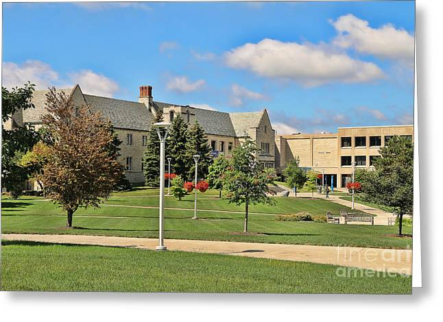 Student Union University Of Toledo  6208 Greeting Card by Jack Schultz