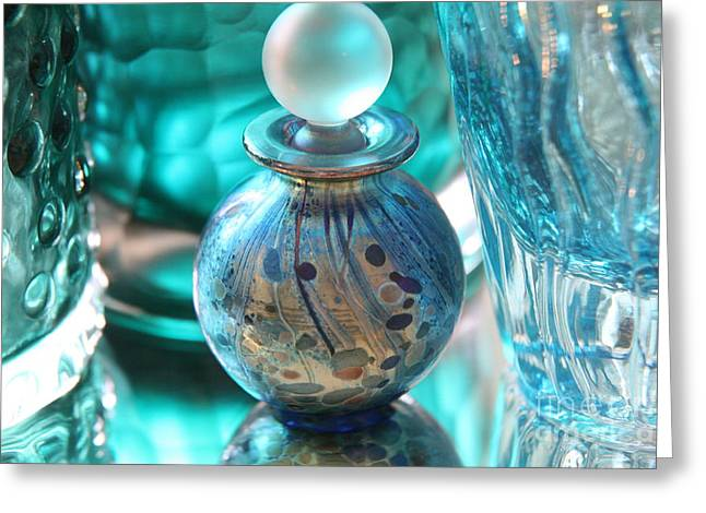 Studies In Glass...murano Greeting Card by Lynn England