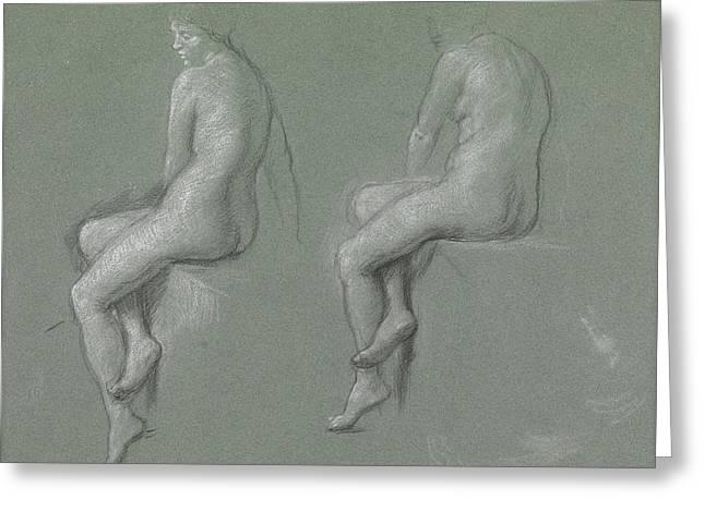 Studies Of The Nude Greeting Card by Sir Edward John Poynter