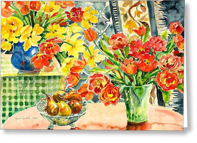Studio Still Life Greeting Card by Alexandra Maria Ethlyn Cheshire