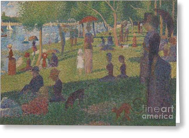 Study For A Sunday On La Grande Jatte, 1884 Greeting Card by Georges Pierre Seurat