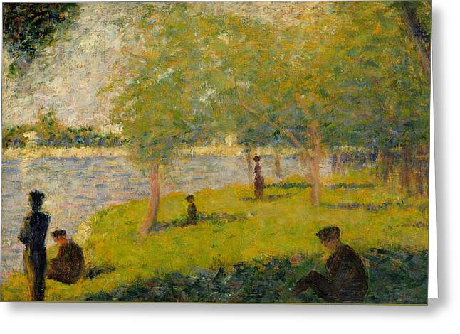 Study For A Sunday On La Grande Jatte Greeting Card by Georges-Pierre Seurat