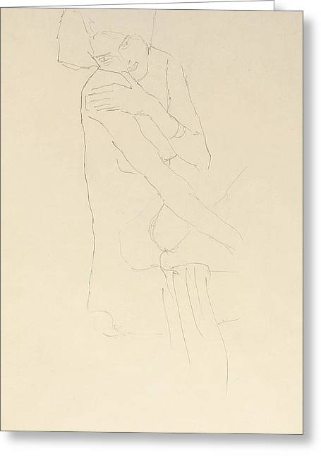 Study For Adele Bloch Bauer II Greeting Card by Gustav Klimt