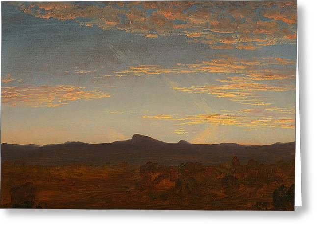 Study For Catskill Creek Greeting Card by Thomas Cole