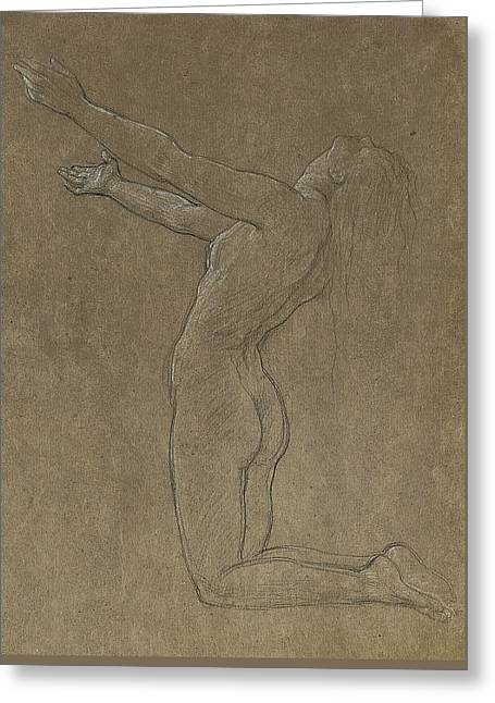Study For Clytie Greeting Card