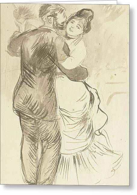 Study For Countryside Dance Greeting Card