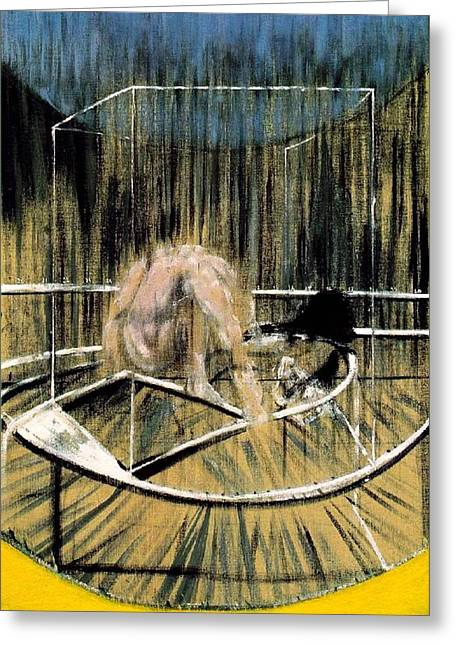 Study For Crouching Nude Greeting Card by Francis Bacon
