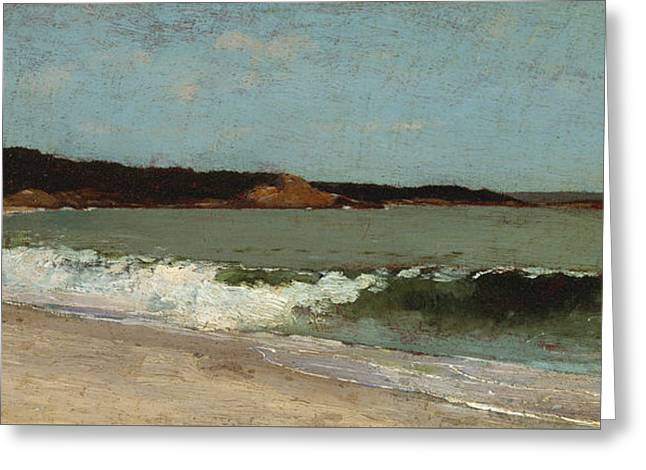 Study For Eagle Head Greeting Card by Winslow Homer