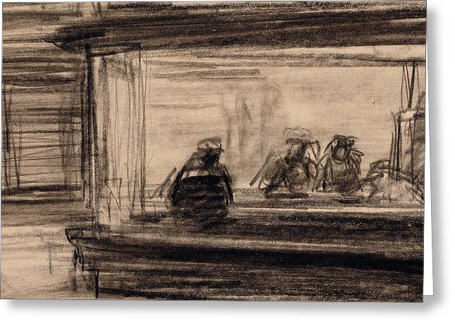 Study For Nighthawks Greeting Card by Edward Hopper