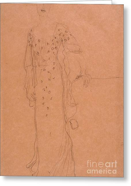 Study For Portrait Of Adele Bloch-bauer I Greeting Card by Celestial Images