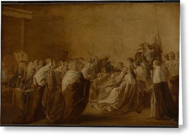 Study For The Collapse Of The Earl Of Chatham Greeting Card by John Singleton