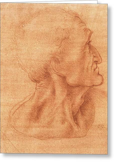 Study For The Last Supper, Judas Greeting Card by Leonardo da Vinci