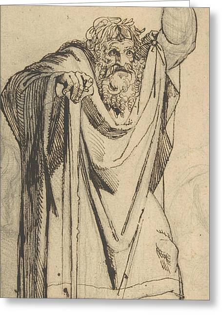 Study For The Prophet Jeremiah Greeting Card by Henry Fuseli