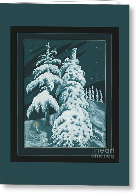 Greeting Card featuring the painting Study For Winter Trees Of Life 299 by William Hart McNichols