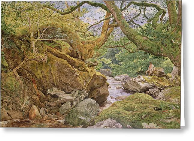 Study From Nature, Inveruglas, 1857 Greeting Card by Joseph Noel Paton