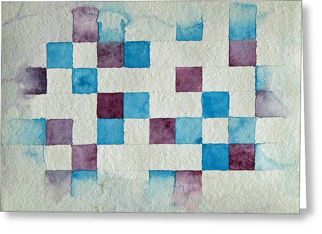 Study In Blue And Violet Greeting Card