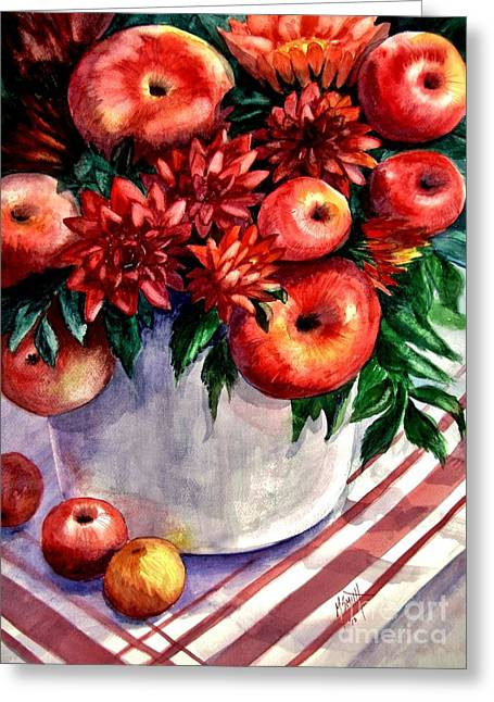 Study In Red Greeting Card by Marilyn Smith