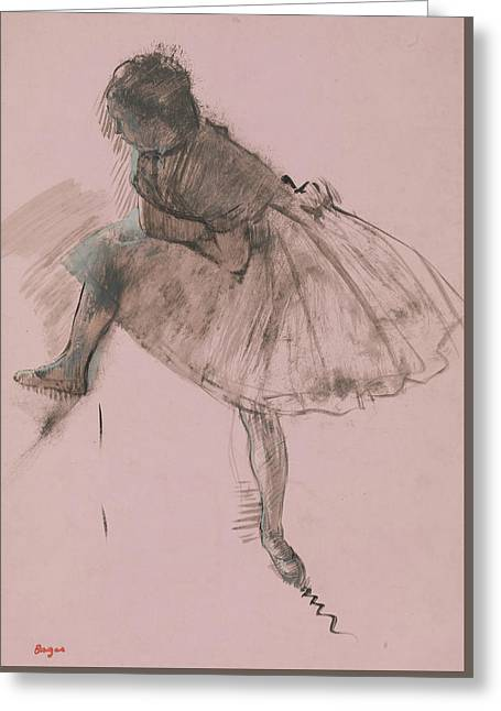 Study Of A Ballet Dancer Greeting Card