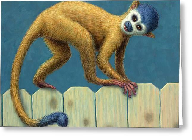 Study Of A Cute Monkey Greeting Card